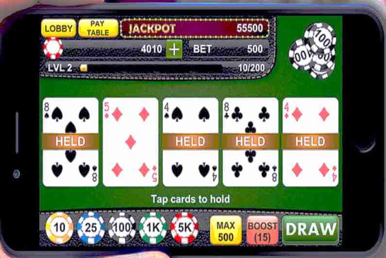 Alien Poker video poker